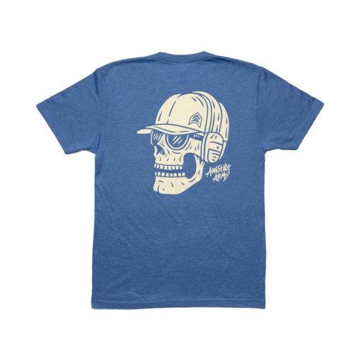 Angstadt Arms Skull Shooter T Shirt Vintage Royal Blue